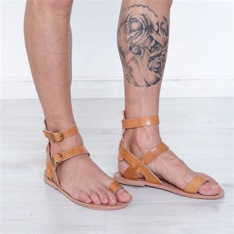 mens gladiator boots mens gladiator sandals toe ring leather ankle cuff