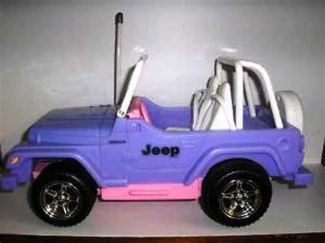 purple barbie jeep barbie doll jeep wrangler toy car purple pink nice central