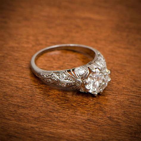 Edwardian Engagement Rings by Edwardian Engagement Ring Filigree Engagement And