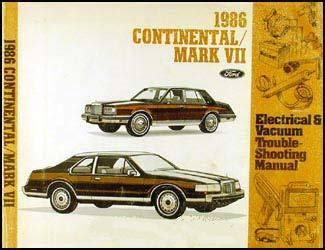 online car repair manuals free 1986 lincoln town car electronic valve timing 1986 lincoln auto repair manuals