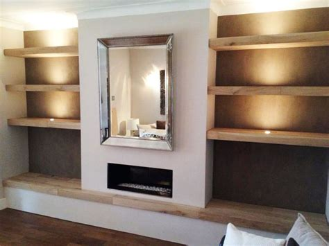 17 best ideas about oak shelves on alcove