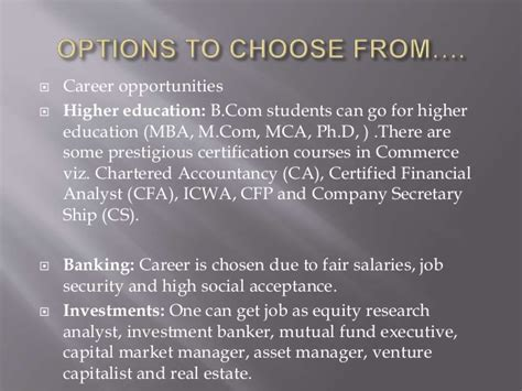 Mba Internship Buy Side Equity Analyst by Career Options In The Commerce