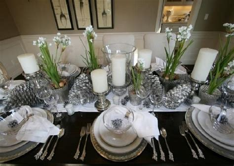 dining room table setting ideas superb elegant christmas dining room on dining room with