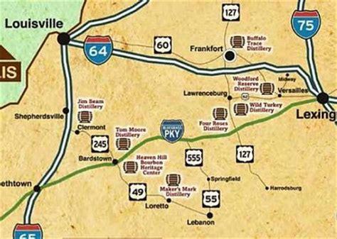 map kentucky bourbon trail bourbon trail