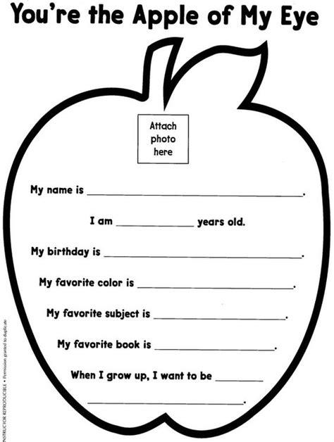 Kindergarten Language Arts Worksheets by Apple Projects For Preschoolers School
