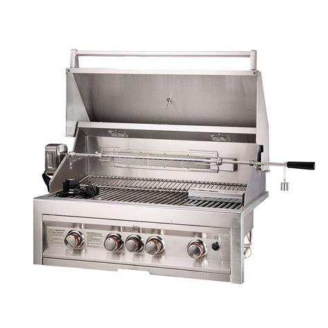lowes gas grills shop sunstone stainless steel 4 burner liquid propane gas