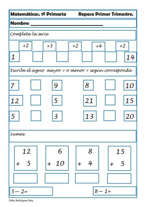 cuaderno de repaso matem 225 ticas de primero ejercicios de matem aticas para primaria ejercicios de matem 225 ticas para primaria