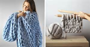 chunky hand knit blankets for giants that also work for humans