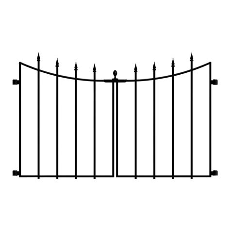 home depot decorative fence hton bay empire westbrook 3 75 ft x 2 33 ft black