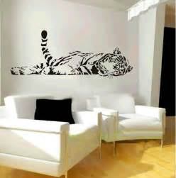wall sticker for room elephant wall decal animal zoo lying up tiger