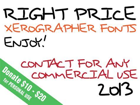 xerographer dafont right price font dafont com
