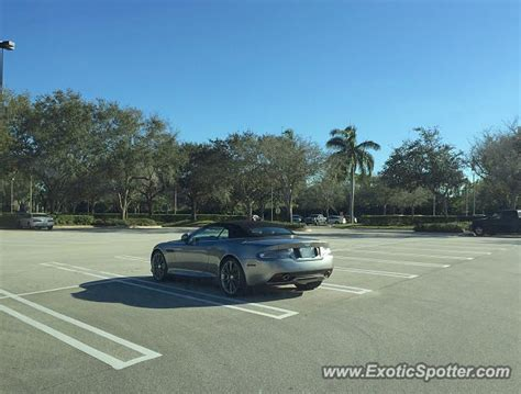 Aston Martin Of Palm by Aston Martin Virage Spotted In Palm B Gardens Florida On
