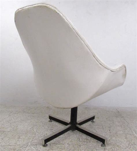 mid century modern swivel chair mid century modern tufted swivel lounge chair for sale at 1stdibs