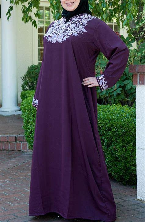 Gamis Besar Contoh Model Busana Muslim Khusus Wanita Gemuk 2016