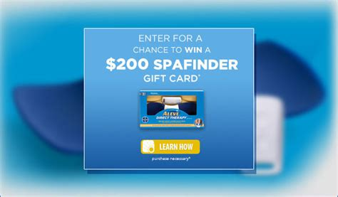 Spafinder Gift Card Promo - aleve direct therapy spafinder gift card giveaway us