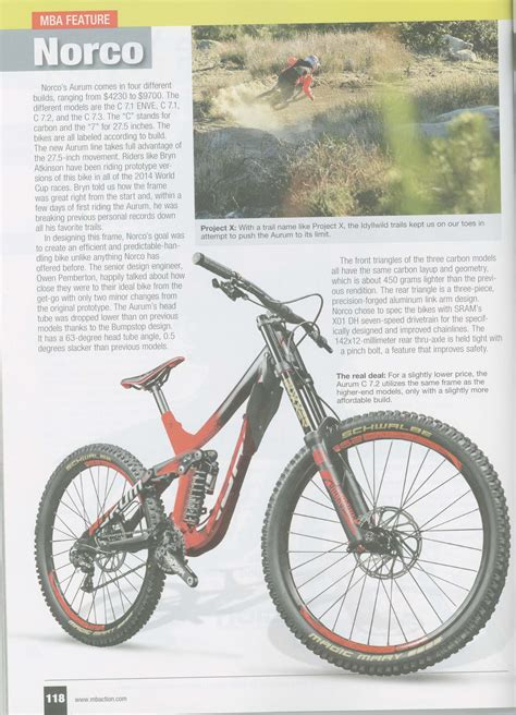 Mba Bike by Mountain Bike Norco S New Gravity Machine On The