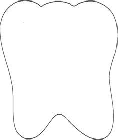 template of a tooth tooth pattern use the printable outline for crafts