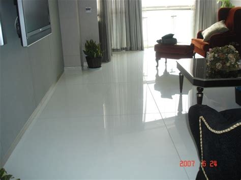 china white shiny environmental crystal glass floor tile