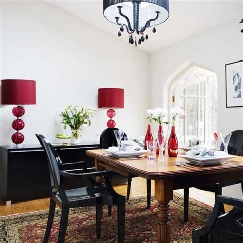 red dining room ideas dining room with red accents decorating ideas image