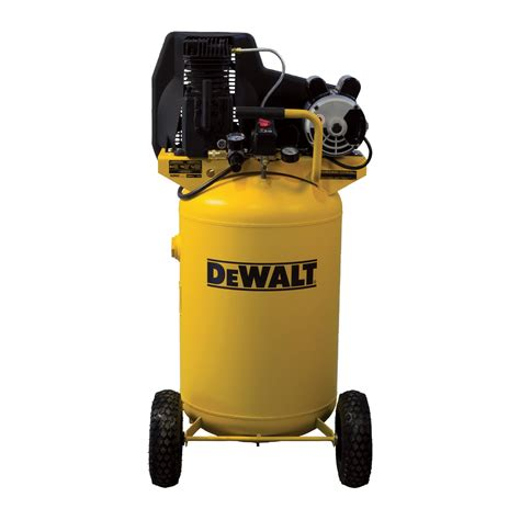 dewalt portable electric air compressor 1 9 hp 30 gallon vertical 5 7 cfm model