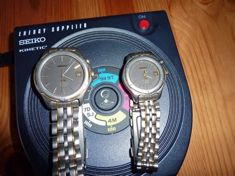 seiko kinetic electric induction charger charging kinetics on the yt02a