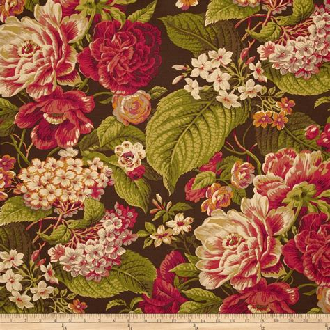 English Floral Curtains Waverly Floral Flourish Cordial Discount Designer Fabric