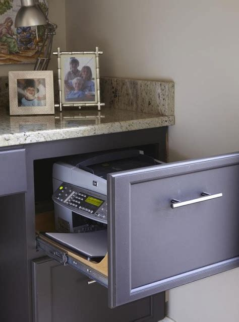 Printer Drawer by Kitchen Office Area Hgtv Remodels Printer Inside Filing