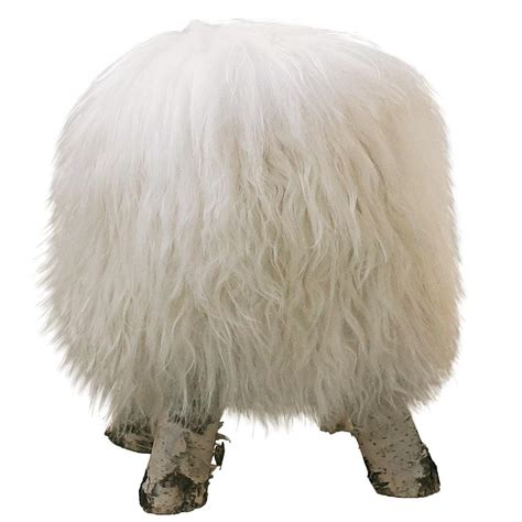 Fluffy Stool by Dolly The Stool Fluffy Wool Bedroom Company