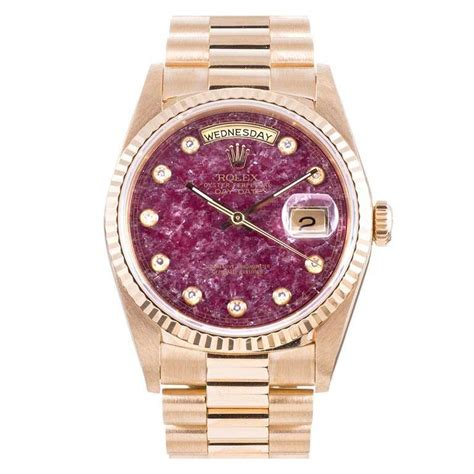 Rolex Villenia Gold Coulor Fashion Diskon rolex yellow gold day date wristwatch with rubellite circa 1990s at 1stdibs