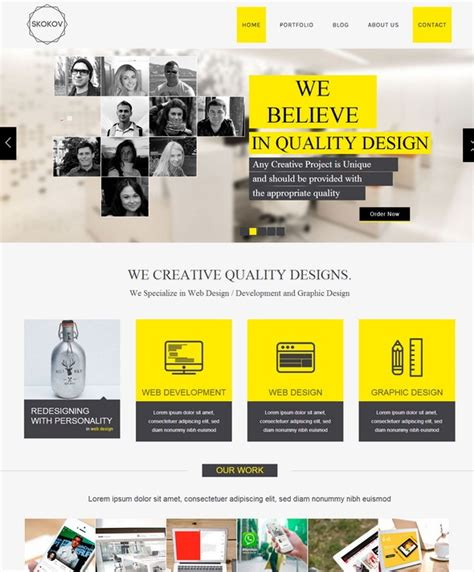 templates for html pages free download 27 best corporate html5 website templates designscrazed