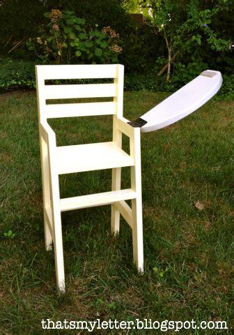 letter diy doll high chair
