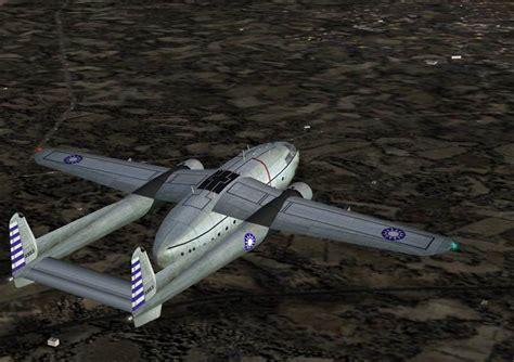 fsx fs2004 roc fairchild c 119g taiwan air package flight simulator addon mod