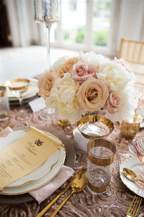 gold and pink centerpieces pink and gold wedding centerpiece elizabeth