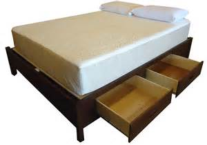 King Size Platform Bed With Storage Basic King Size Wood Storage Platform Bed