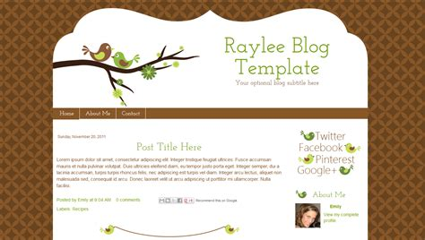 layout blog template brown green bird blog template raylee bd web studio