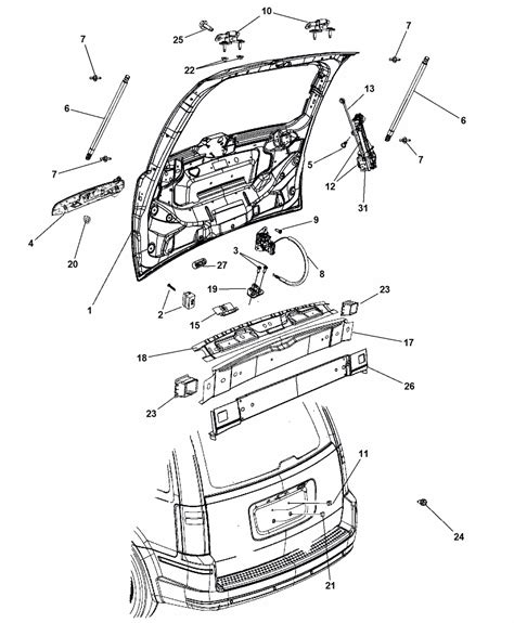 chrysler town and country parts diagram liftgates for 2012 chrysler town country mopar parts