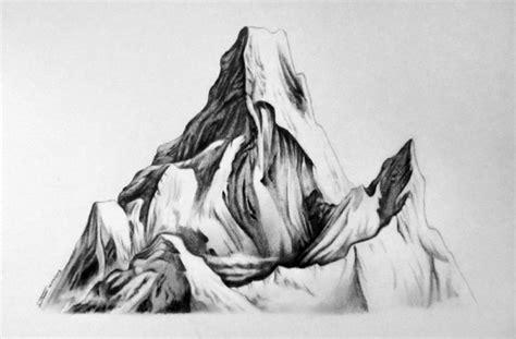 33 sketsa untuk menggambar pemandangan pantai dan gunung dengan pensil