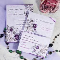purple floral printable wedding invitation cards cheap ewi063 as low as 0 94