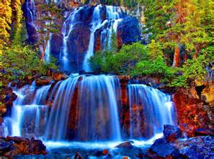 colorful waterfall the most colorful amazing waterfall wonderful world