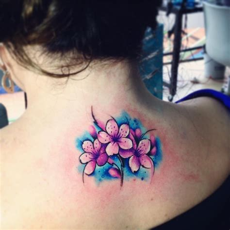 cherry blossom watercolor tattoo 30 gorgeous watercolor tattoos by adrian bascur tattoomagz