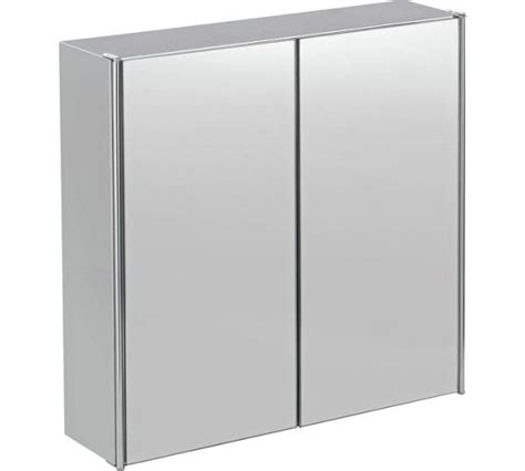 Buy Home Double Door Mirrored Bathroom Cabinet Stainless Stainless Steel Mirrored Bathroom Cabinet