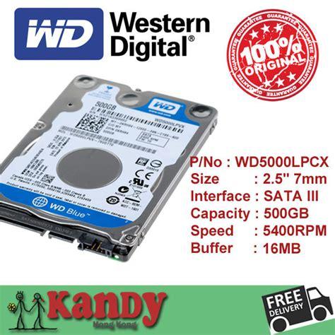 Hardisk Laptop Wd Blue 500gb Western Digital Wd Blue 500gb Hdd 2 5 Sata Disco Duro