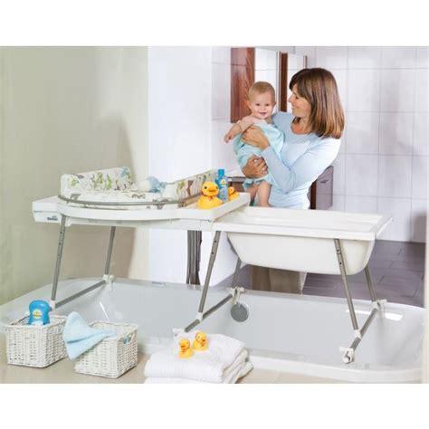 combine baignoire table a langer aqualino matel achat