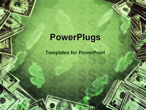 Money Powerpoint Templates Free Powerpoint Template Dollar Signs And Dollar Bills In