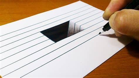 Very Easy How To Draw 3d Hole For Kids Anamorphic