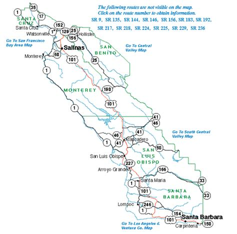 highway information area maps caltrans district five