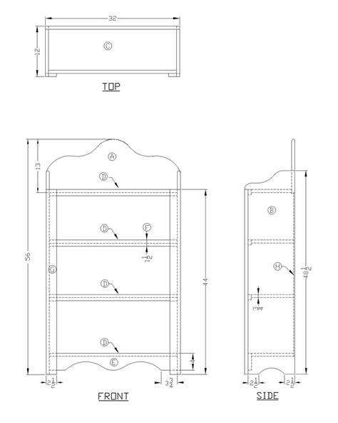 woodwork bookshelf drawing plans  plans