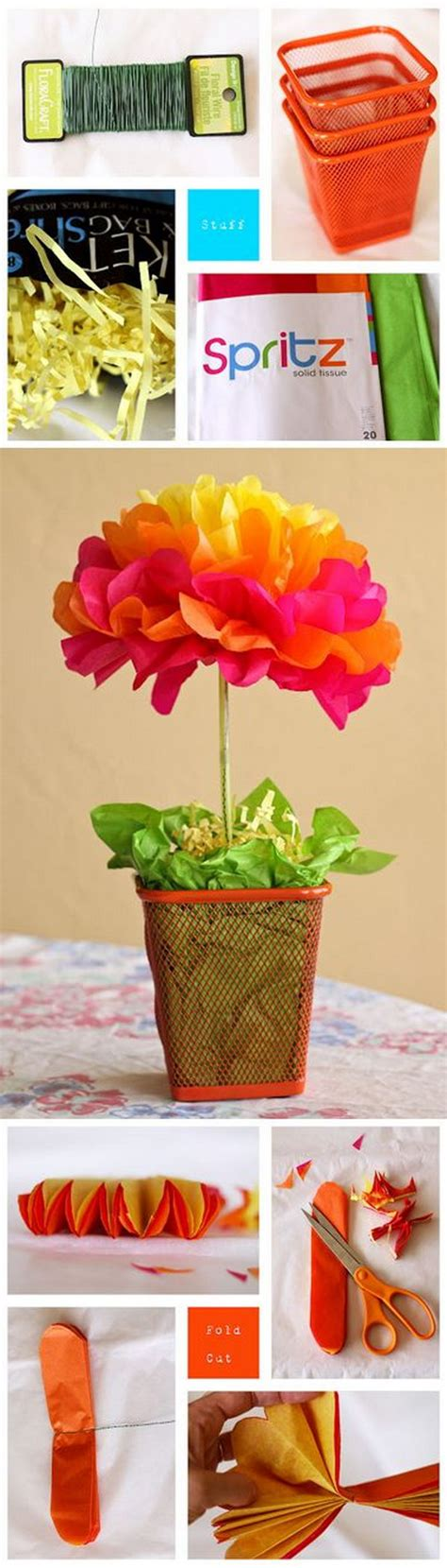 How To Make Centerpieces With Tissue Paper - create these easy tissue paper crafts and with