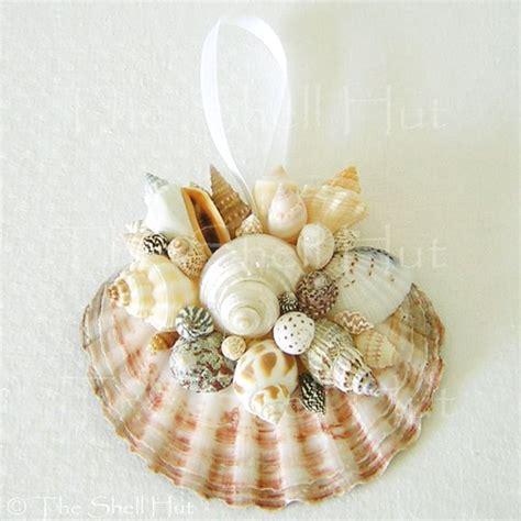 seashell ornaments seashell christmas scallop ornament