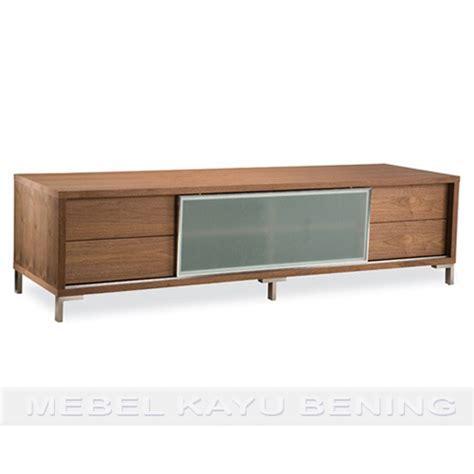 Rak Tv Kayu Mahoni rak tv kayu jati model minimalis rasela